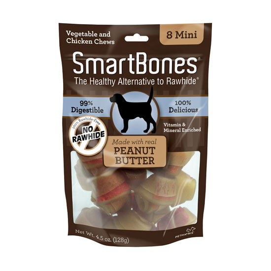 Smart Bone Peanut Butter Mini, 8 Count Package
