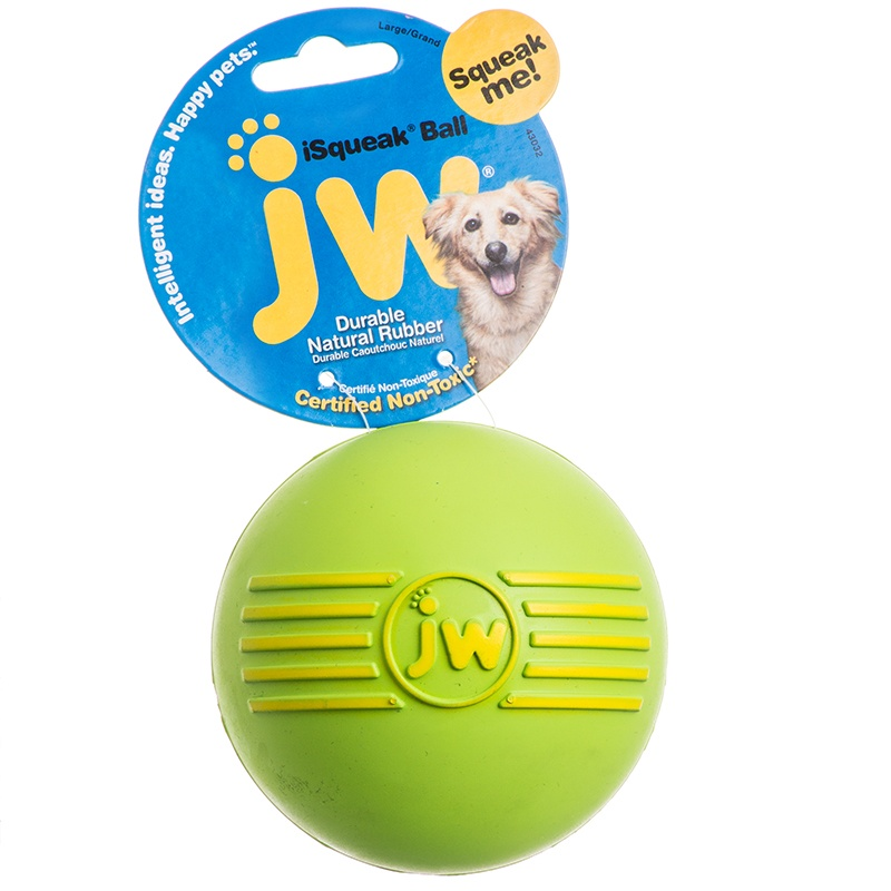 JW PET SQUEAKY BALL MED