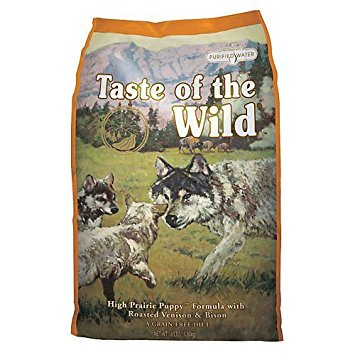 Taste of the Wild High Prairie Grain-Free Roasted Bison & Venison Dry Puppy Food, 28 lbs