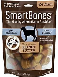 Smart Bone Peanut Butter Mini, 24 Count Package