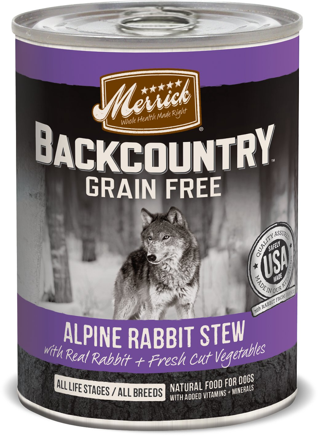 Merrick Backcountry Alpine Rabbit Stew 12.8oz 12 Count Case
