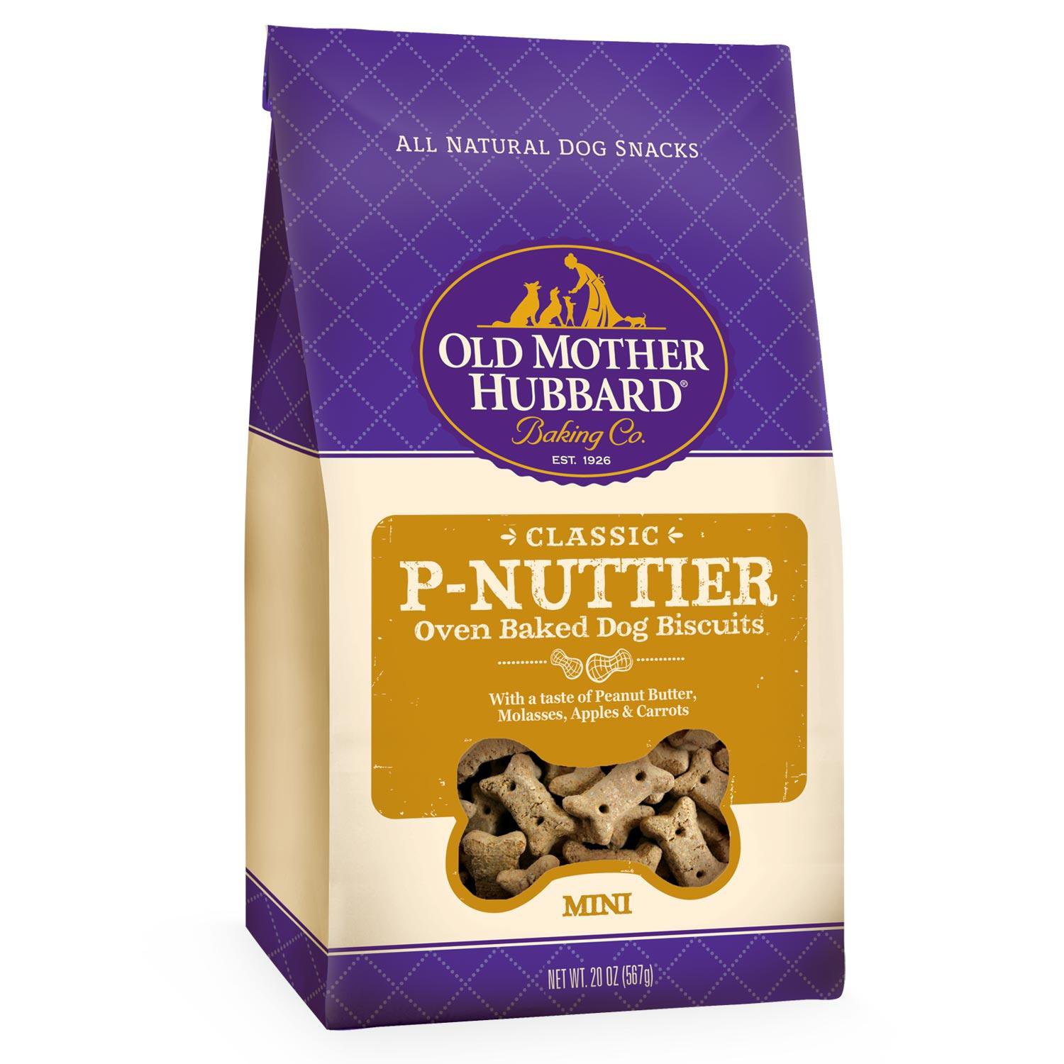 Old Mother Hubbard Mini P-Nuttier Dog Biscuits 20oz