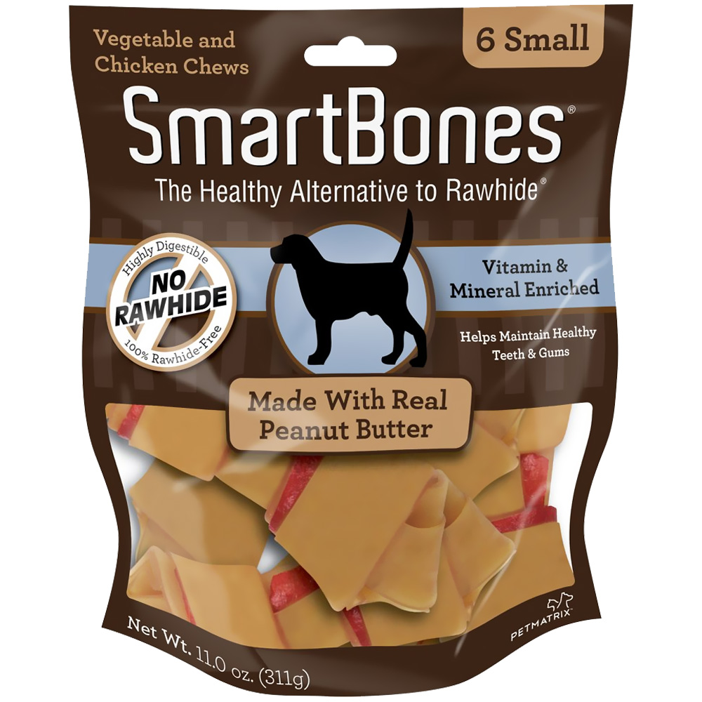 Smart Bone Peanut Butter Small, 6 Count Package