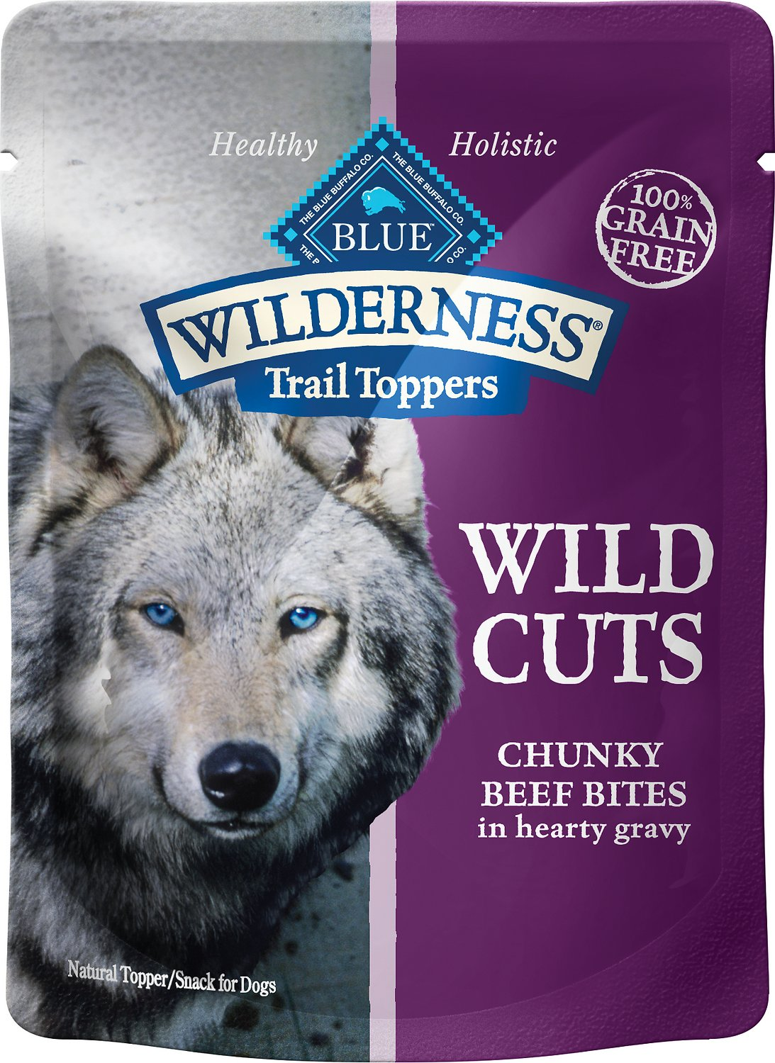 Blue Buffalo Wilderness Topper Beef 3oz 12 Count Case