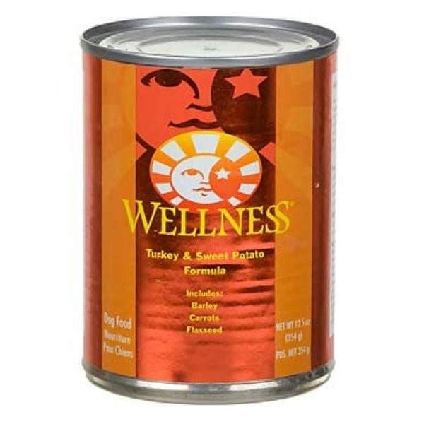 Wellness Turkey and Sweet Potato 12.5oz Canned Dog Food, Case of 12