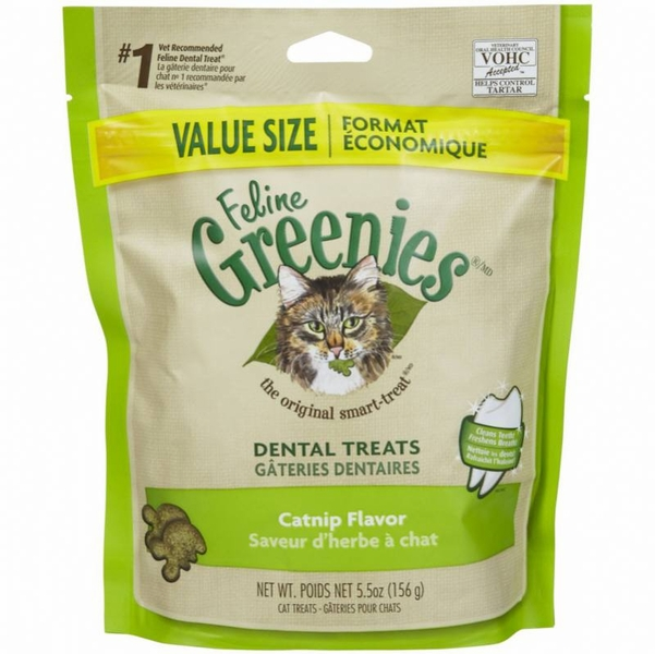 Greenies Feline Dental Treats Catnip Flavor 5.5 oz