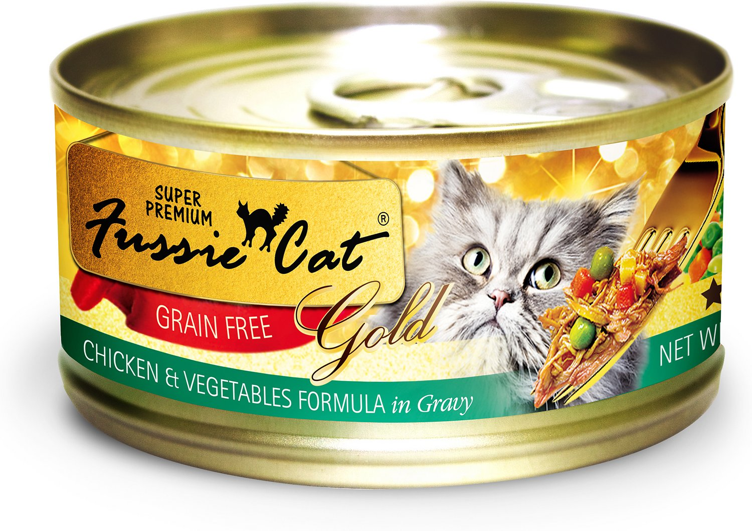 Fussie Cat Chicken & Vegetable Can Cat Food 2.8oz 24 Count Case