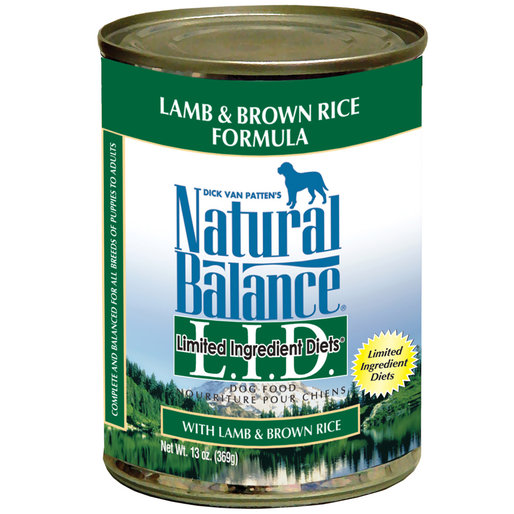 Natural Balance LID Lamb & Brown Rice 13oz 12 Count Case