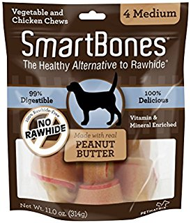 Smart Bone Peanut Butter Medium, 4 Count Package