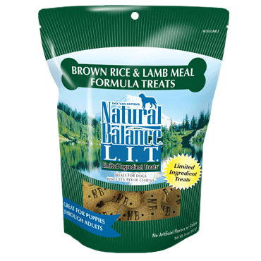 Natural Balance Limited Ingredient Brown Rice & Lamb Formula Dog Treats 8oz