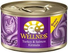 Wellness Turkey and Salmon Pate Grain Free Canned Cat Food 5.5oz, Case of 24