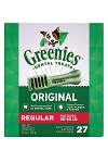 Greenies Dog Dental Chew Treat Pak Regular 27oz