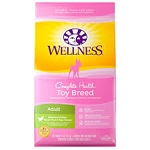 Wellness Toy Breed Adult Deboned Chicken, Brown Rice and Peas Recipe Dry Dog Food, 4lb
