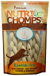 Nutri Chomps Milk Flavor Braid 6inch, 4 Count Package
