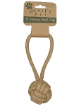Scott Pet Natural Hemp Rope Loop with ball, 9 inch