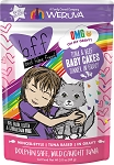 Weruva BFF Tuna & Beef Baby Cakes Dinner in Gravy Wet Cat Food Pouches 3oz, case of 12