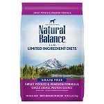 Natural Balance L.I.D. Limited Ingredient Diets Grain Free Sweet Potato & Venison Formula Dry Dog Food, 4 Lbs.