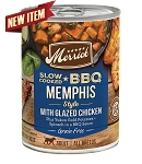 Merrick Slow Cooked BBQ Memphis Style with Glazed Chicken 12.7oz, 12 Count Case