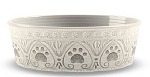 Tarhong Medallion Natural Paw Print Bowl Medium