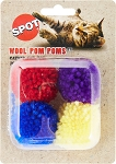 Ethical Wool Pom Poms with Catnip 4pk