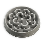 Tarhong Medallion Small Slow Feed Bowl, Gray