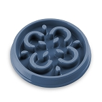 Tarhong Medallion Small Slow Feed Bowl, Indigo