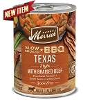 Merrick Slow Cooked BBQ Texas Style with Braised Beef 12.7oz, 12 Count Case