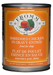 Fromm 4-Star Shredded Chicken in Gravy 13oz 12 Count Case