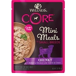 Wellness Core Mini Meals Chunky Chicken and Chicken Liver 3oz, 12 Count Case