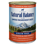 Natural Balance LID Fish & Sweet Potato 13oz 12 Count Case