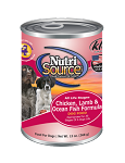 Nutri Source Chicken, Lamb, and Ocean Fish Dog Food 13oz 12 Count Case