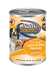 Nutri Source Lamb and Rice Dog Food 13oz 12 Count Case