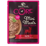 Wellness Core Mini Meals Pate Beef 3oz, 12 Count Case