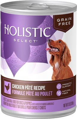 Holistic Select Grain Free Chicken Pate Dog Can 13oz 12 Count Case