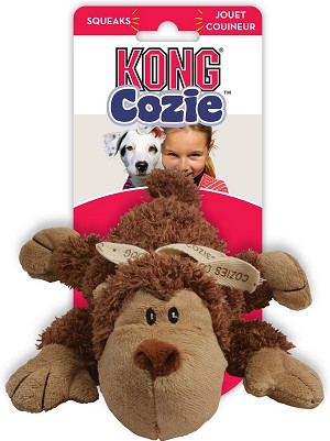 Kong Cozie Spunky Monkey Dog Toy Small