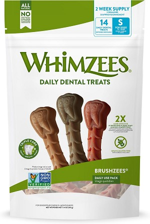 Whimzee Brushzee Small, 7.4oz Package