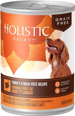 Holistic Select Grain Free Pate Turkey & Duck Dog Can 13oz 12 Count Case