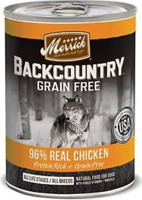 Merrick Backcountry 96% Chicken 12.8oz 12 Count Case
