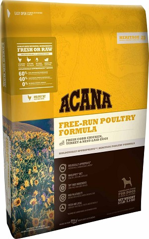 Acana Heritage Free Run Poultry Dry Dog Food 25lb