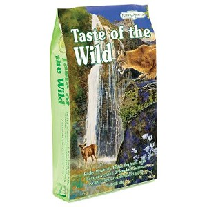 Taste of the Wild Rocky Mountain Grain-Free Roasted Venison & Smoked Salmon Dry Cat Food, 5 lbs