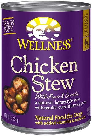 Wellness Chicken Stew 12.5oz Canned Dog Food, Case of 12