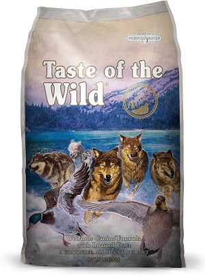 Taste of the Wild Wetlands Grain-Free Roasted Fowl Dry Dog Food, 28 lbs