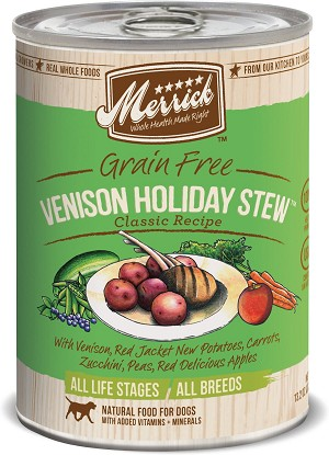 Merrick Venison Holiday Stew 12.7oz 12 Count Case
