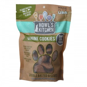Howls Kitchen Canine Cookies Peanut Butter & Molasses 10 Oz