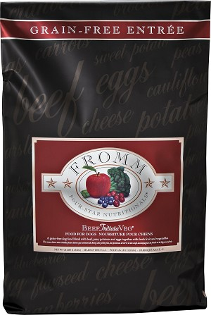 Fromm 4-Star Grain Free Beef Frittata Veg Dry Dog Food 26lb