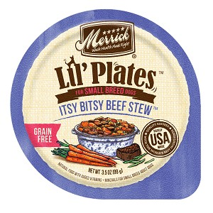 Merrick Lil' Plate Itsy Bitsy Beef Stew 3.5oz 12 Count Case