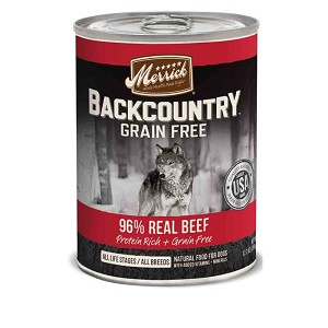 Merrick Backcountry 96% Beef 12.8oz 12 Count Case