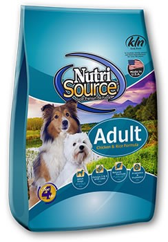 Nutri Source Chicken and Rice Adult Dog Food 33lb