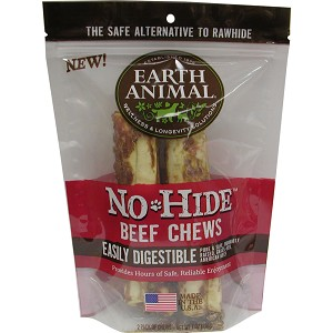 Earth Animal No Hide 7 inches Beef Dog Chew 2ct