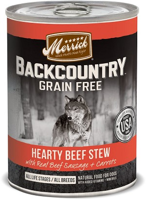 Merrick Backcountry Hearty Beef Stew 12.8oz 12 Count Case